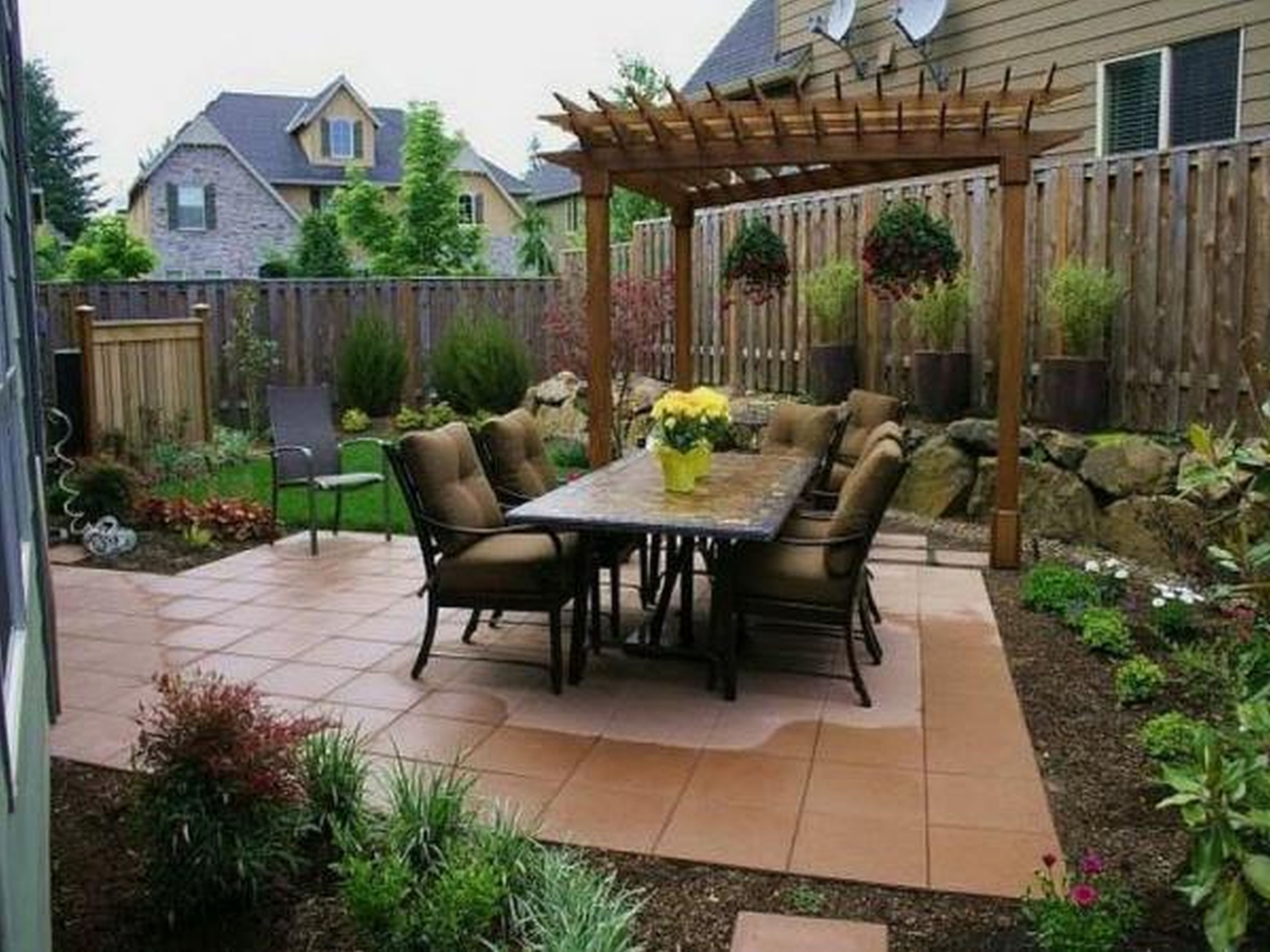 10 Best Concrete Patio Ideas For Small Backyards surprising concrete patio ideas for small backyards images