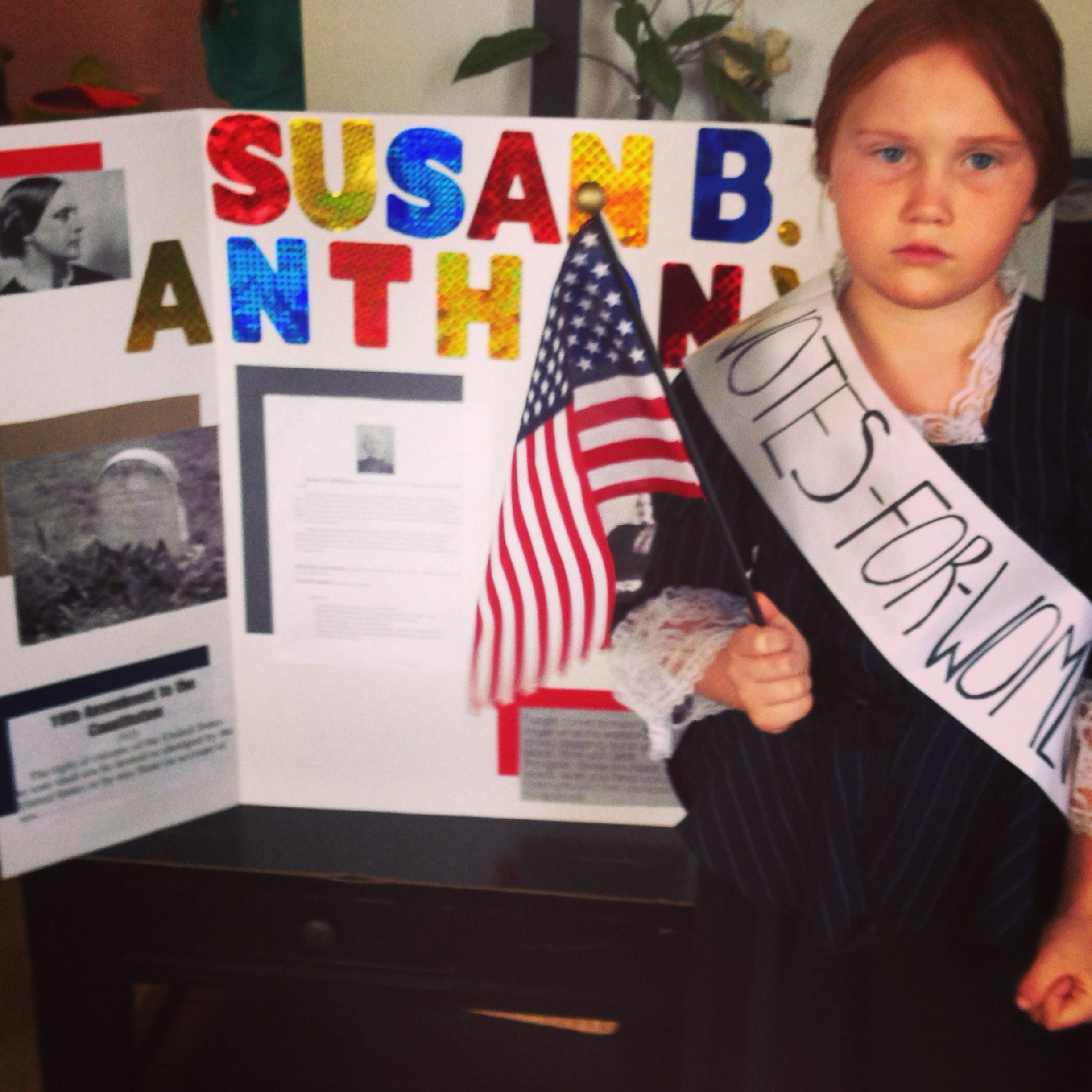 susan b anthony costume | elementary wax museum | pinterest | school