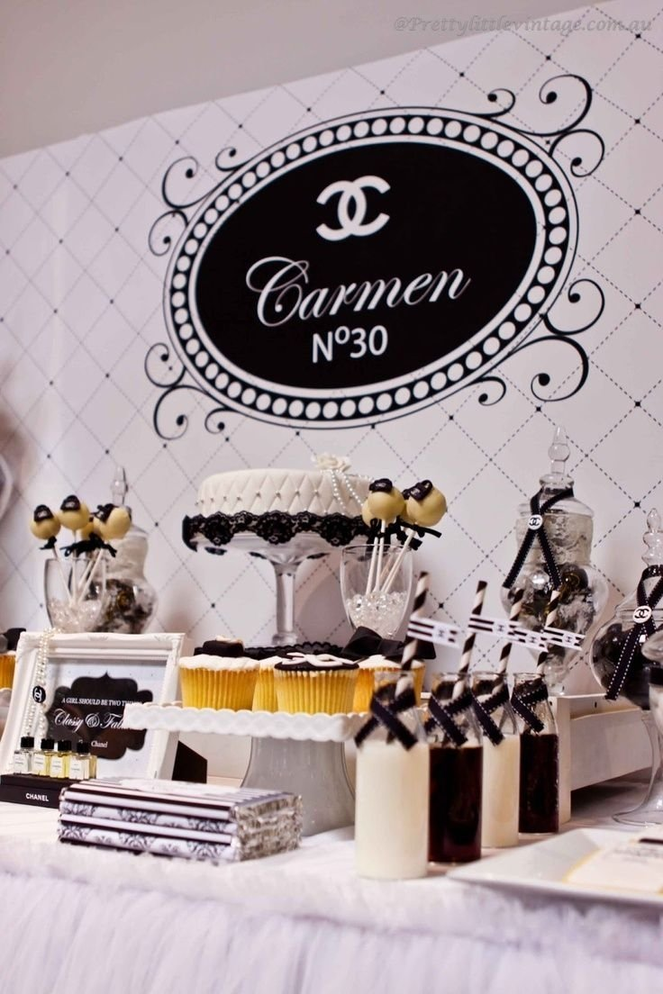 sweet 16 birthday ideas: for the sophisticated girlchanel party