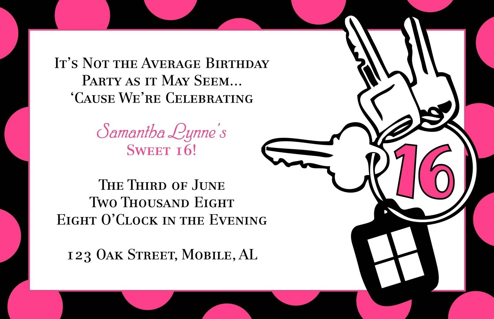 10 Best Awesome Sweet 16 Party Ideas sweet 16 birthday invitation templates dolanpedia invitations 2020
