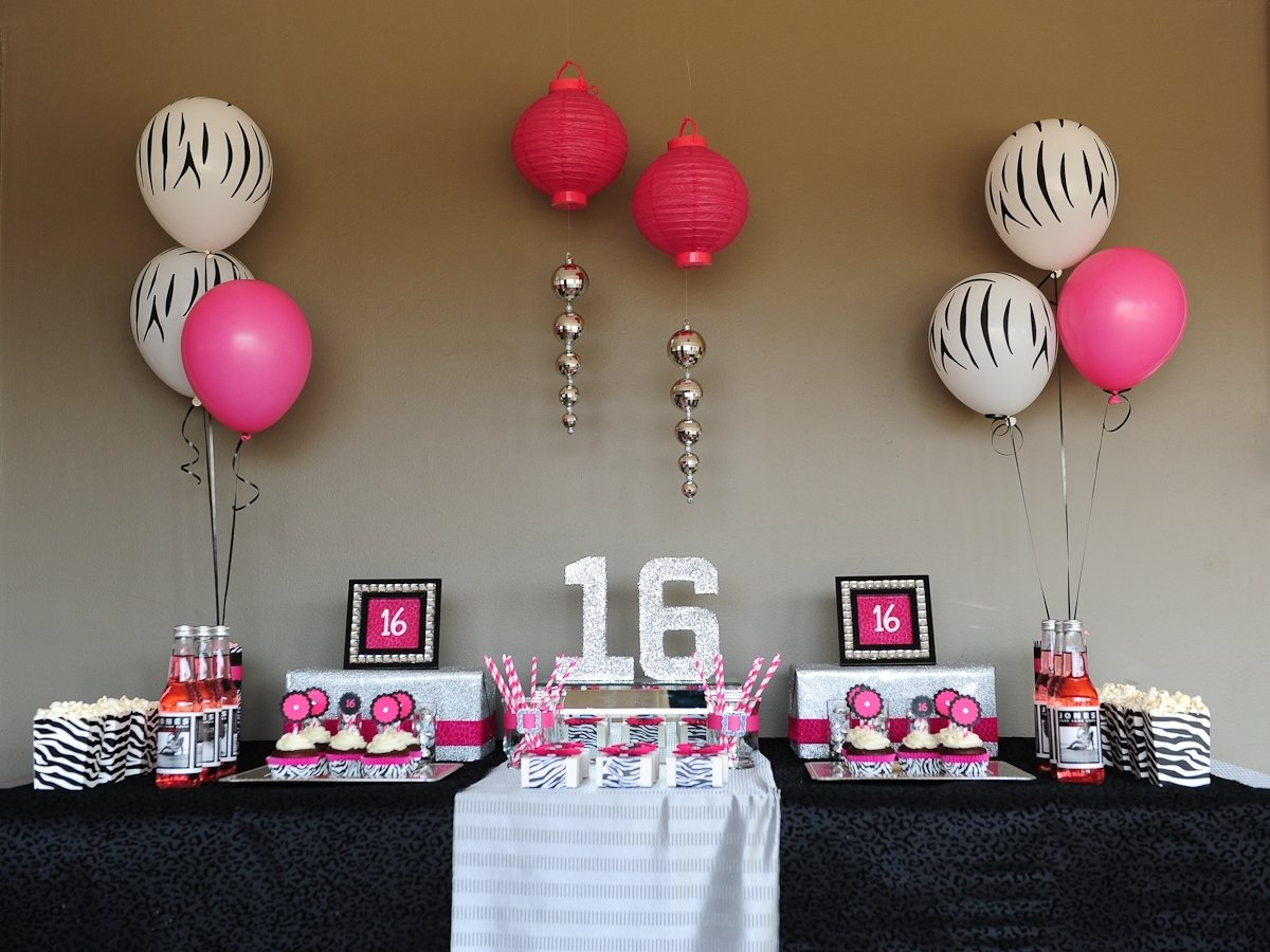 10 Perfect Sweet 16 Party Ideas For Girls sweet 16 party decorations ideas 14 sweet 16 & 10 Perfect Sweet 16 Party Ideas For Girls