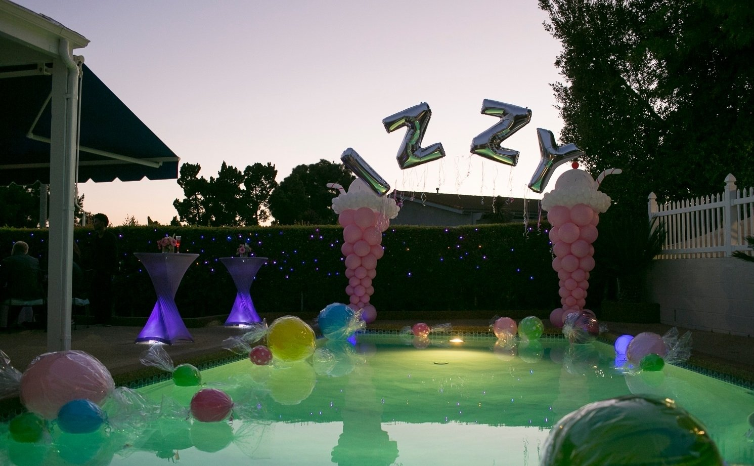 sweet 16 pool party decorations inside party ideas simple sweet