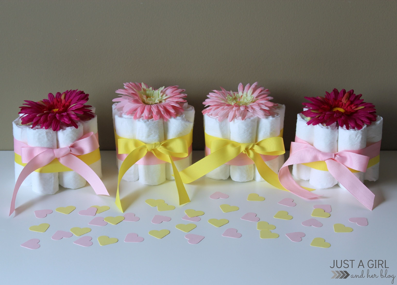 10 Fashionable Girl Baby Shower Centerpiece Ideas sweet and simple baby shower centerpieces simple baby shower baby 2020