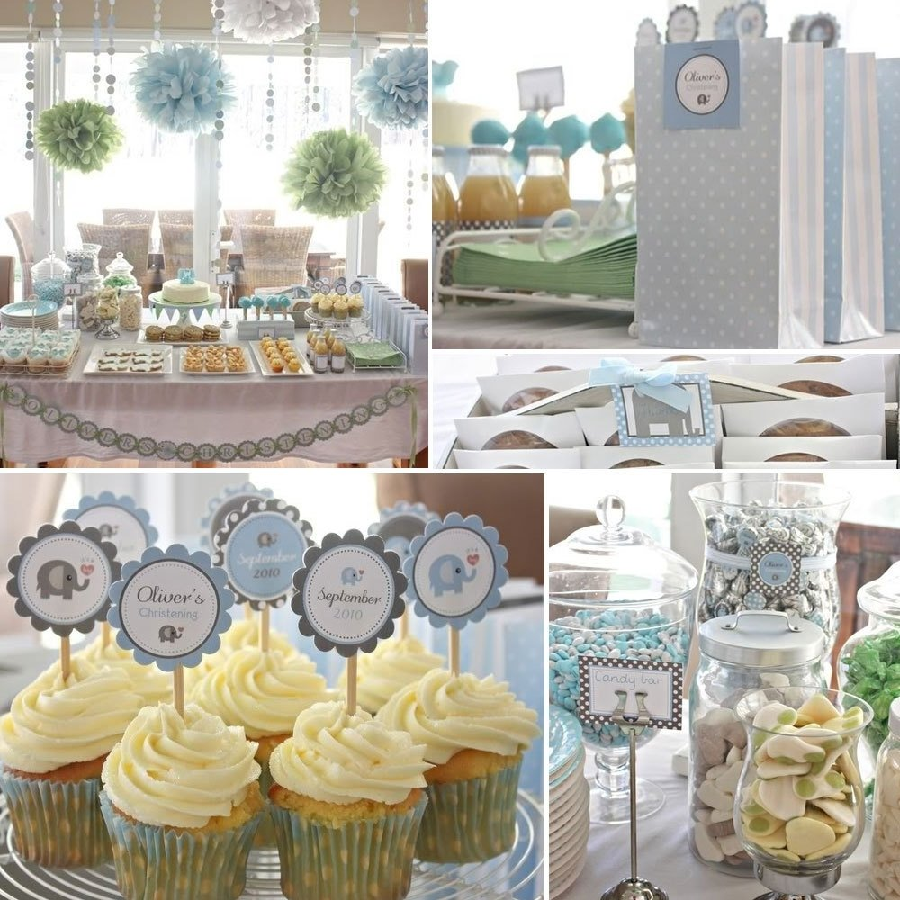 10 Famous Baptism Party Ideas For Boys sweet candy bar for christening baby boy party idea 2020