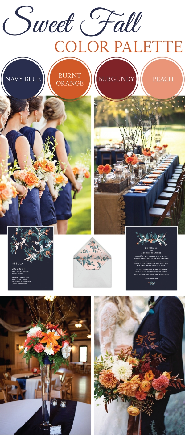 10 Amazing Wedding Color Ideas For Fall sweet fall wedding color palette weddings blog and wedding 2020