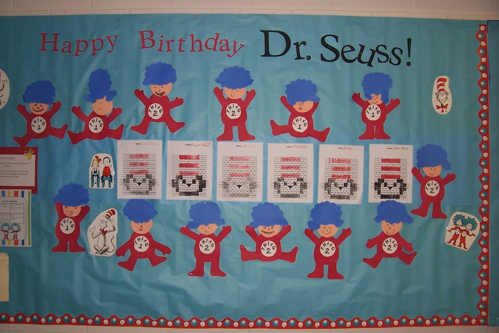 10 Best Dr. Seuss Bulletin Board Ideas For Kindergarten sweet ps class notes i speak for the trees 2021