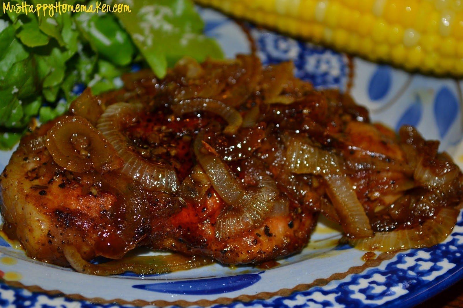 10 Stylish Dinner Ideas With Pork Chops sweet savory pork chops mrs happy homemaker 2021