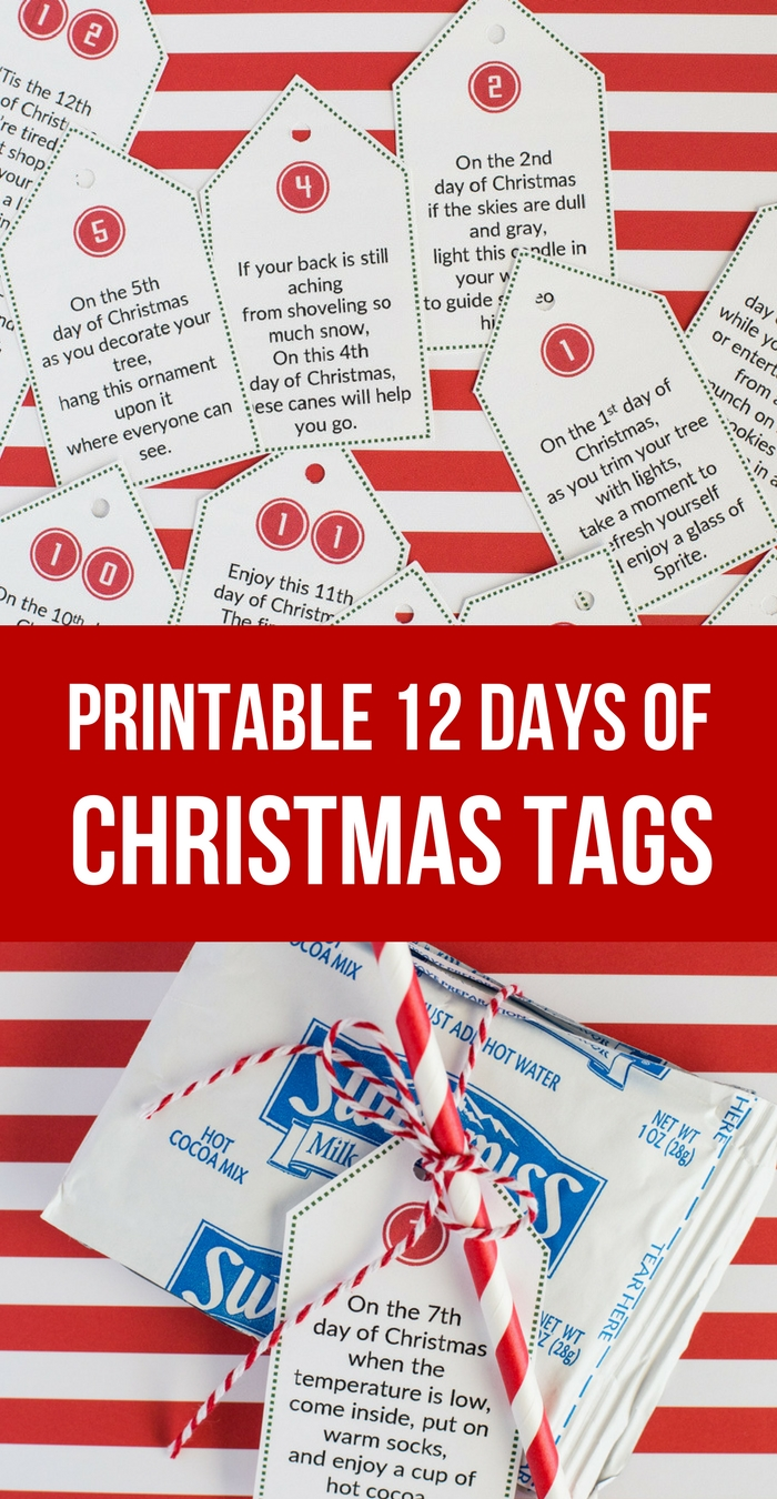 10 Stylish 12 Days Of Christmas Ideas For Boyfriend sweet simple 12 days of christmas printables so festive 5