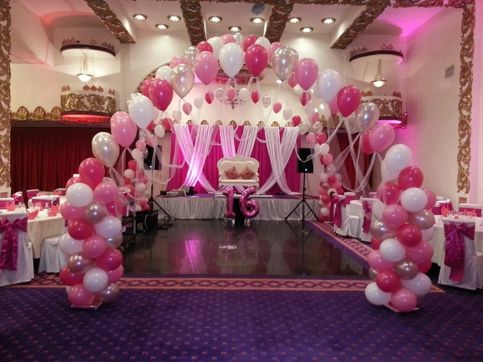 sweet sixteen decorations and plus sweet 16 balloons and plus sweet