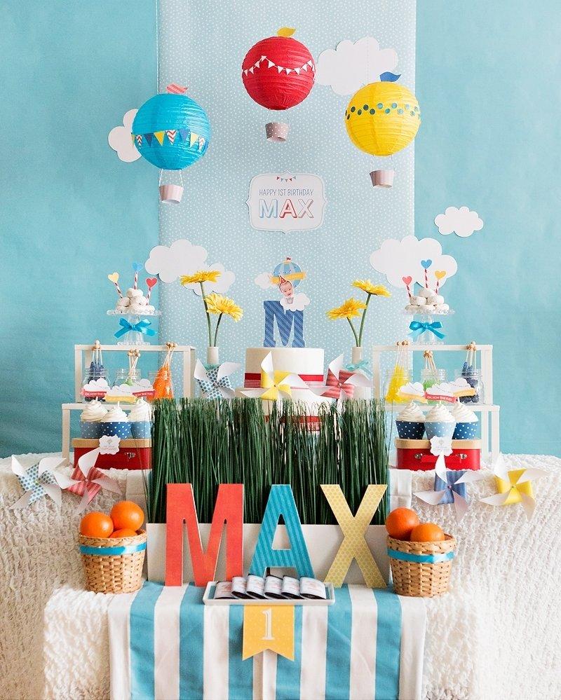 10 Attractive First Birthday Ideas For Boys sweet whimsical hot air balloon first birthday korean dol 3 2021