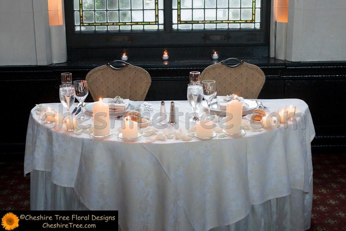 sweetheart table ideas | the bride and groom sat at a sweetheart