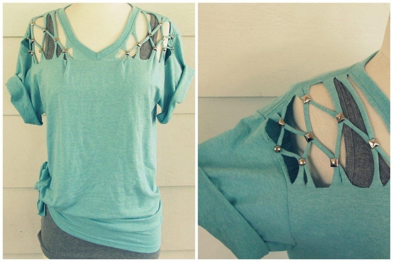 10 Lovely Ideas For Cutting T Shirts t shirt cutting designs ideas diy shirt diy clothes pinterest 1 2020