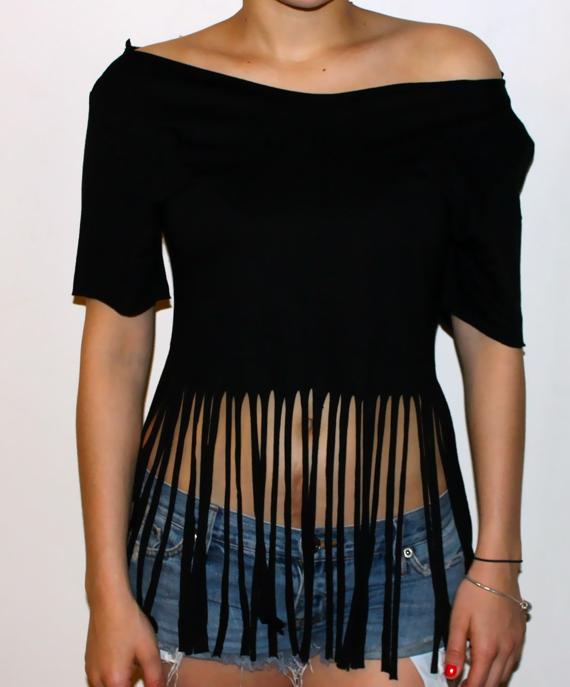 t shirt cutting ideas | diy: fringe t-shirt : cheap chic obsession