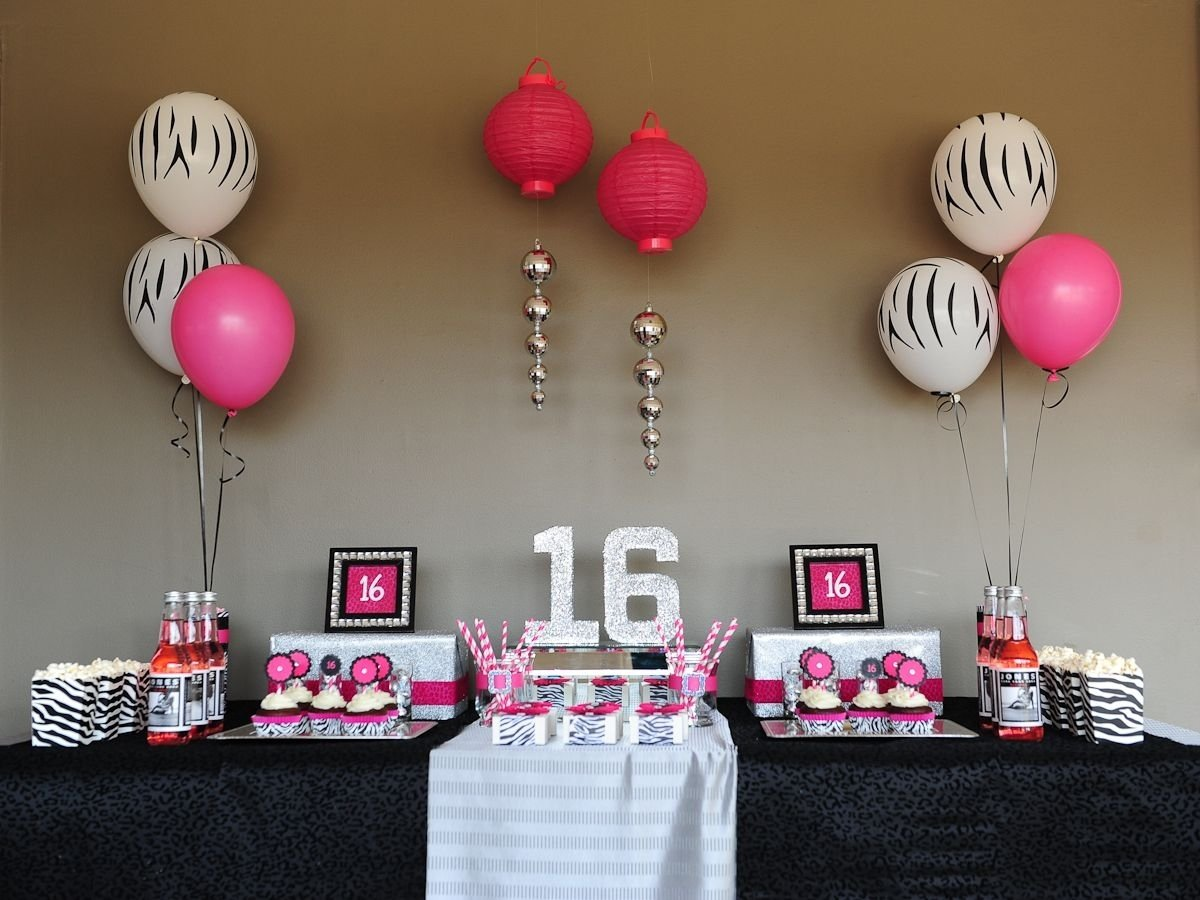 10 Great Ideas For 16Th Birthday Girl table set up table set ups pinterest sweet sixteen fun party 2021