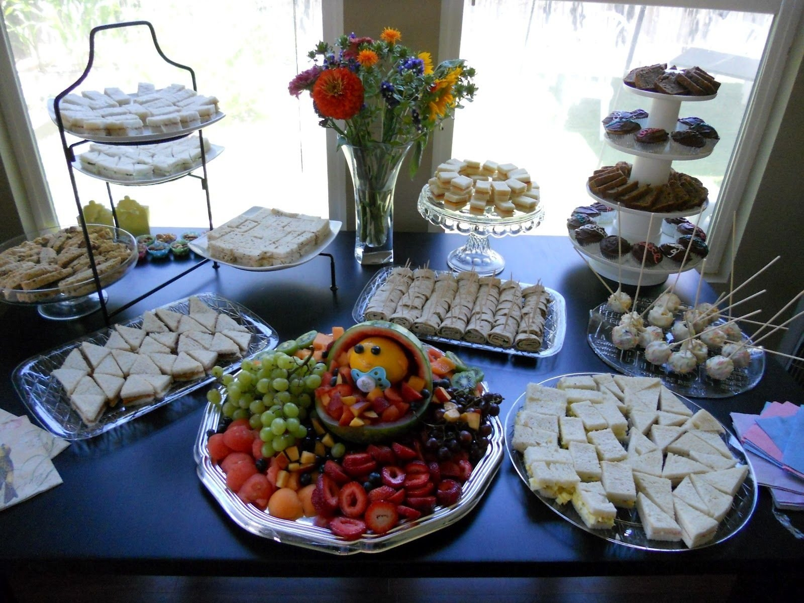 10 Attractive Baby Shower Food Ideas For A Boy table setup for a baby shower gorgeous food setup baby shower 2020
