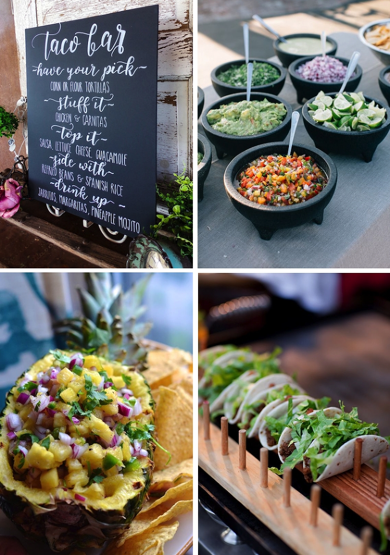 taco 'bout a party! wedding taco bars to steal the show | mexican