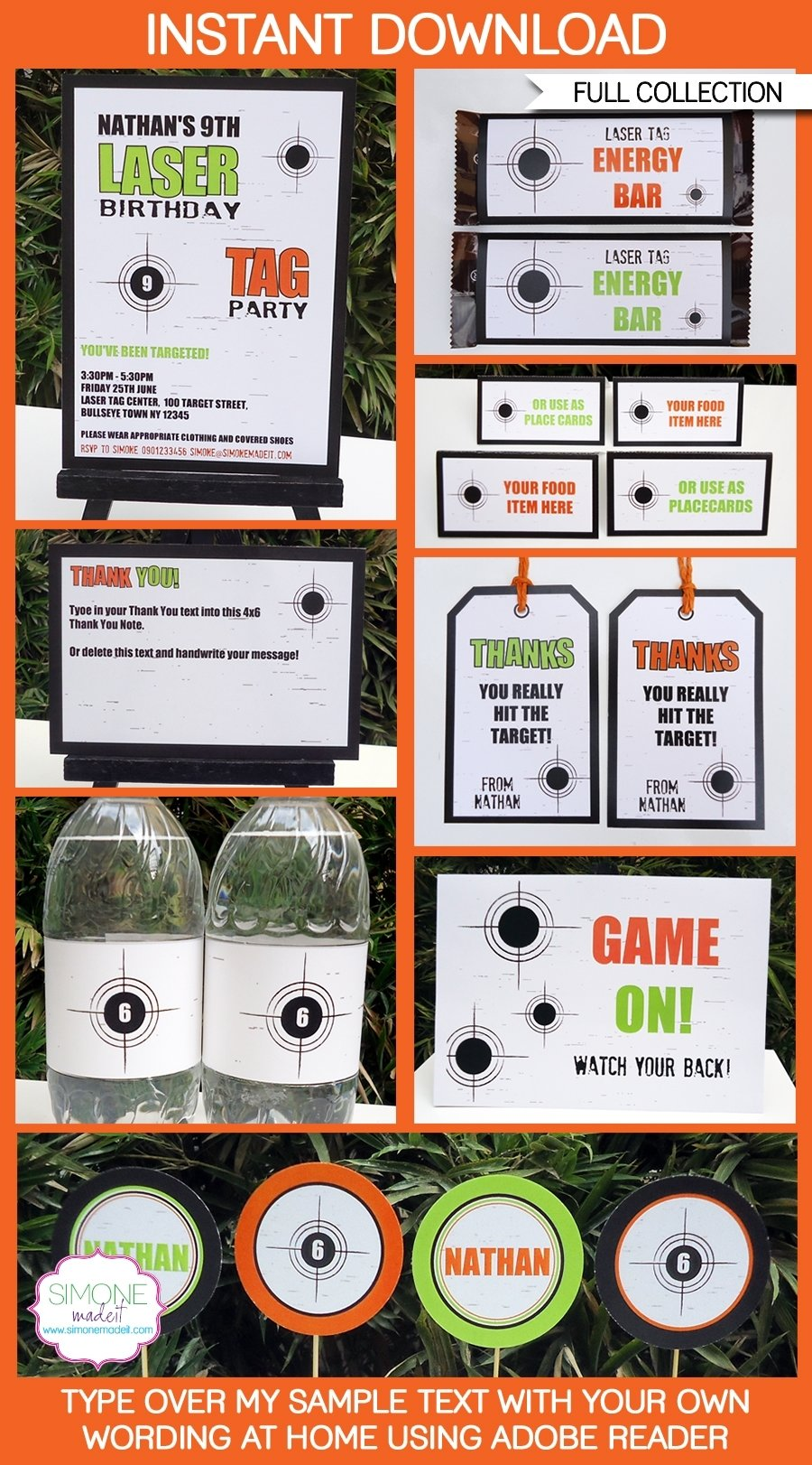 10 Spectacular Laser Tag Birthday Party Ideas tag birthday party printables invitations