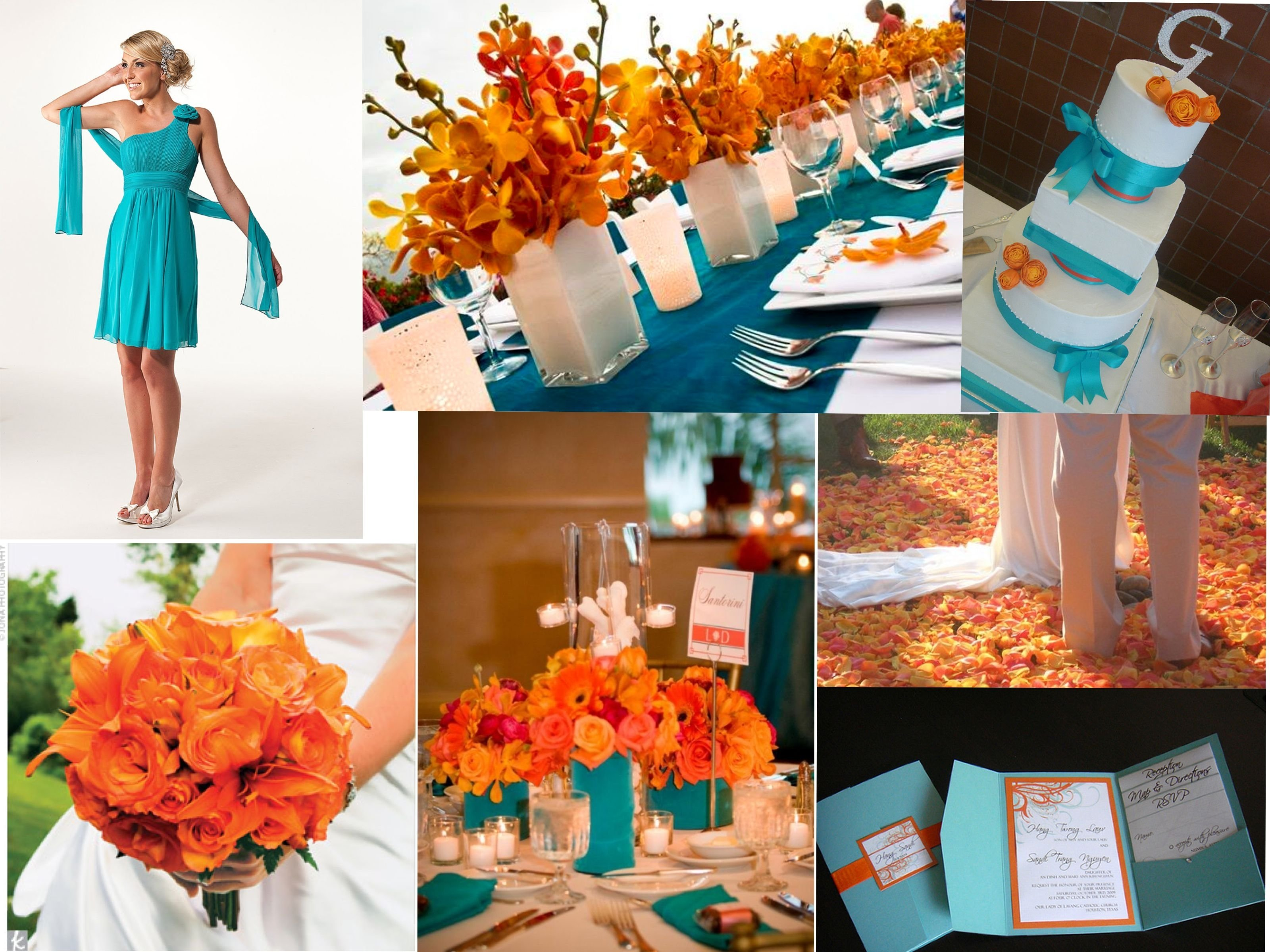10 Gorgeous Blue And Orange Wedding Ideas tangerine and turquoise wedding love this wedding 2021