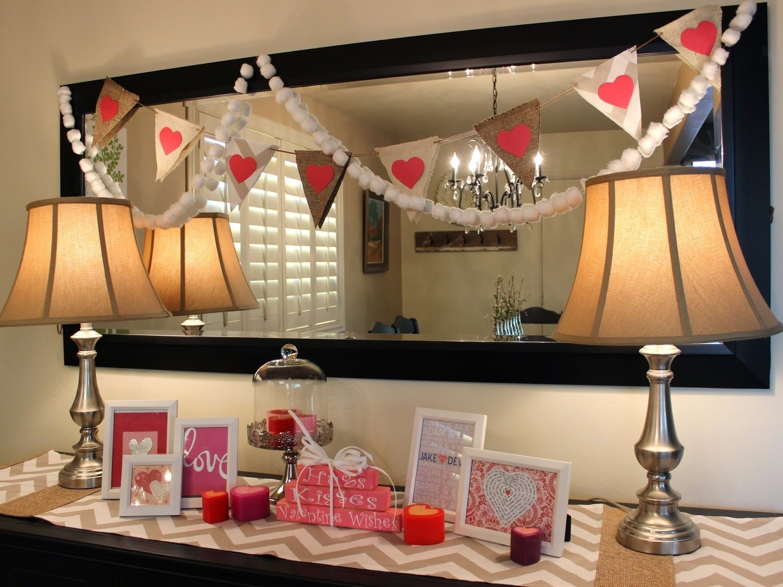 10 Fantastic At Home Valentines Day Ideas tantalizing home living room valentine day deco containing polished