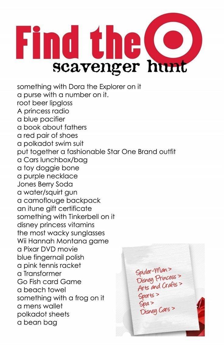 10 Ideal Girls Night Out Scavenger Hunt Ideas target scavenger hunt the kiddles pinterest target 2021