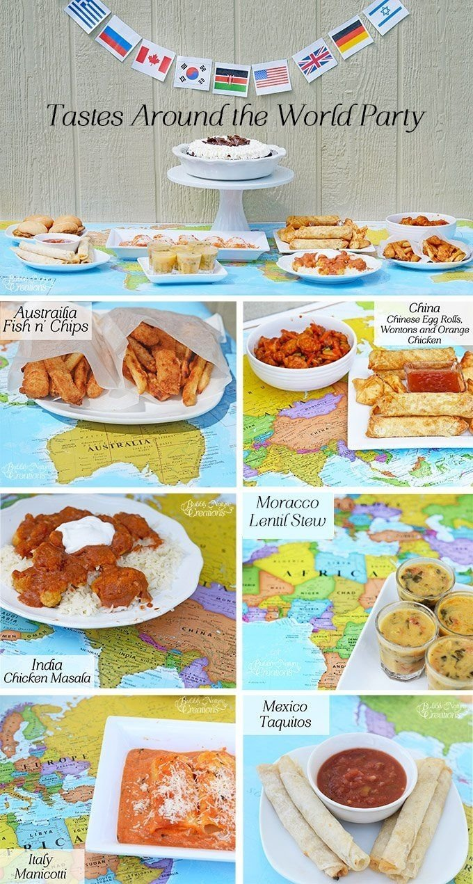 10 Great Around The World Party Ideas tastes around the world party for back to school this is a simple