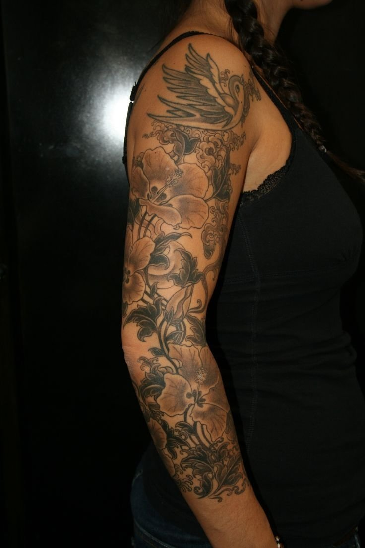 10 Beautiful Sleeve Tattoo Ideas For Females tattoo ideas flower sleeve tattoos tattoo sleeve unique tattoo 4 2021