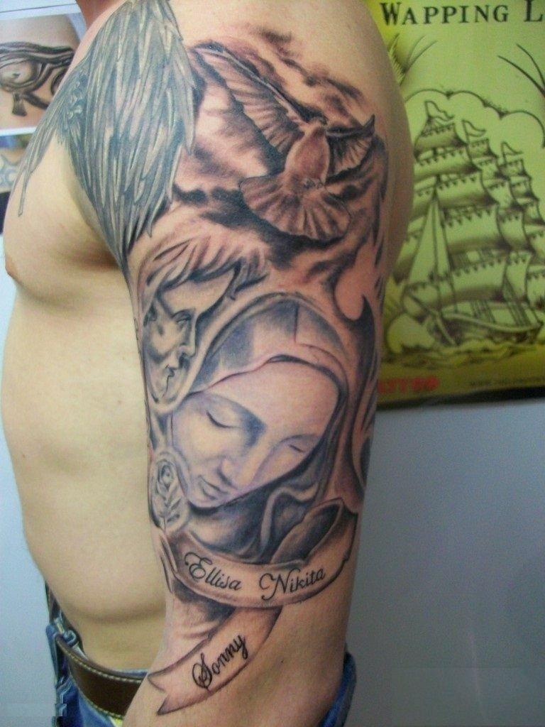 10 Pretty Christian Tattoo Ideas For Men tattoo ideas virgin mary tattoo men sleeve virgin mary tattoos