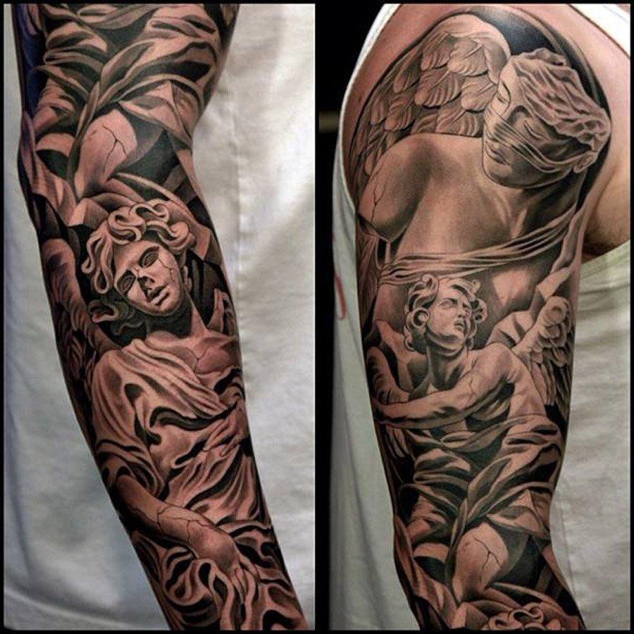 10 Stunning Fill In Tattoo Sleeve Ideas tattoo sleeve ideas