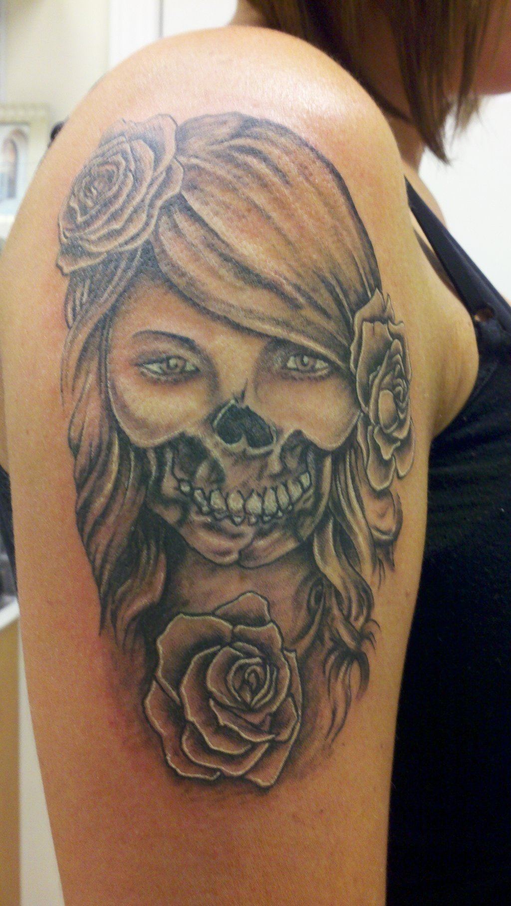 10 Fashionable Day Of The Dead Tattoo Ideas tattoos of girls tattoos and cool art pinterest meaning 2021