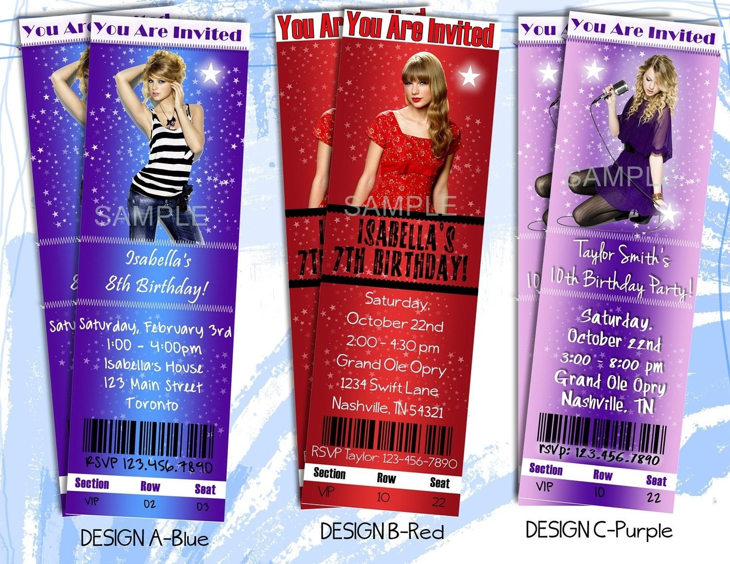 10 Most Popular Taylor Swift Birthday Party Ideas taylor swift party invitation printable ticket style birthday 2020