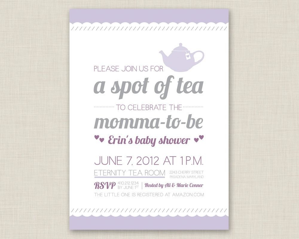 10 Fashionable Ideas For Baby Shower Invitations tea party baby shower invitations tea party baby shower invitations 2021