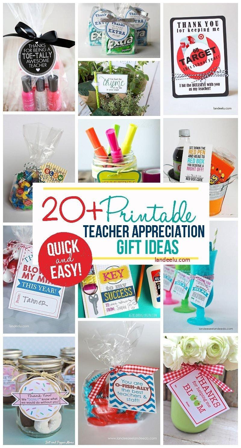 10 Best Teacher Appreciation Homemade Gift Ideas teacher appreciation week gift ideas appreciation free printable 2020