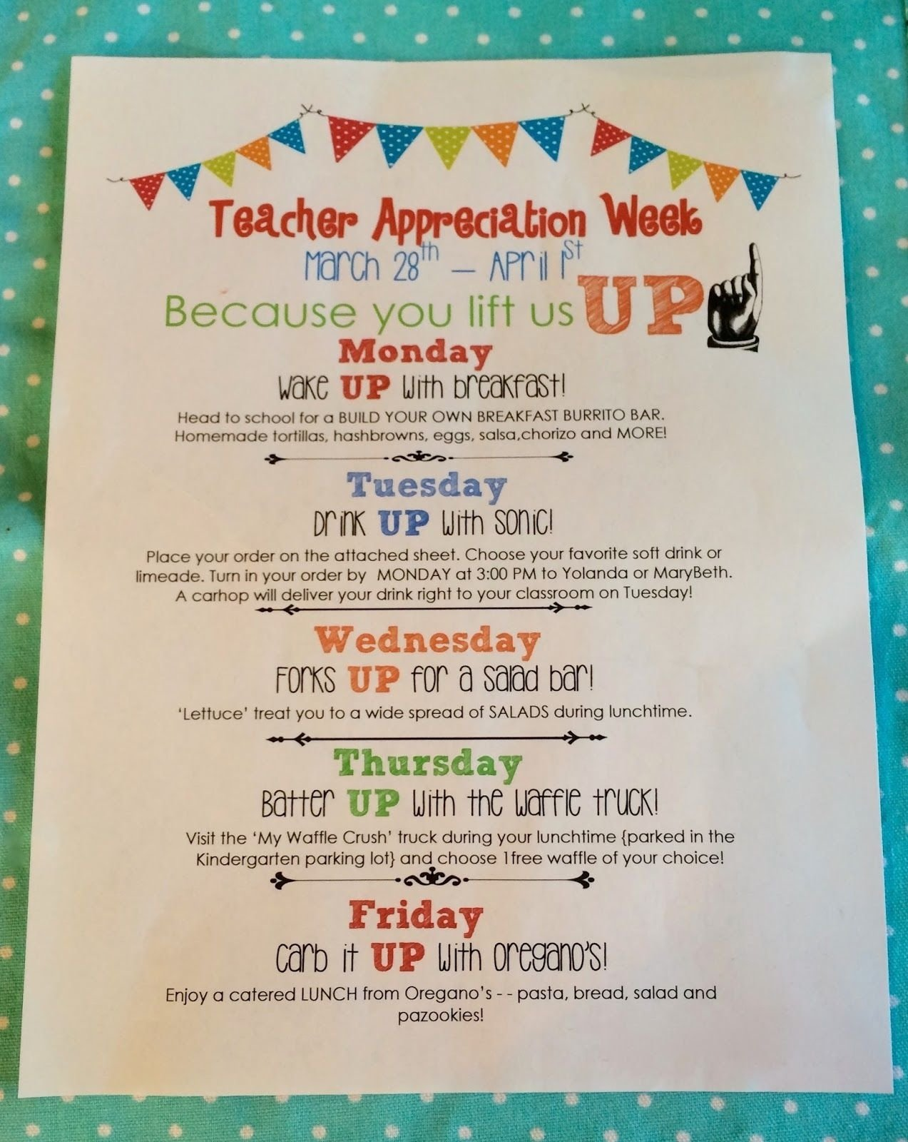 10 Gorgeous Teacher Appreciation Week Theme Ideas teacher appreciation week ideas teacher appreciation pinterest