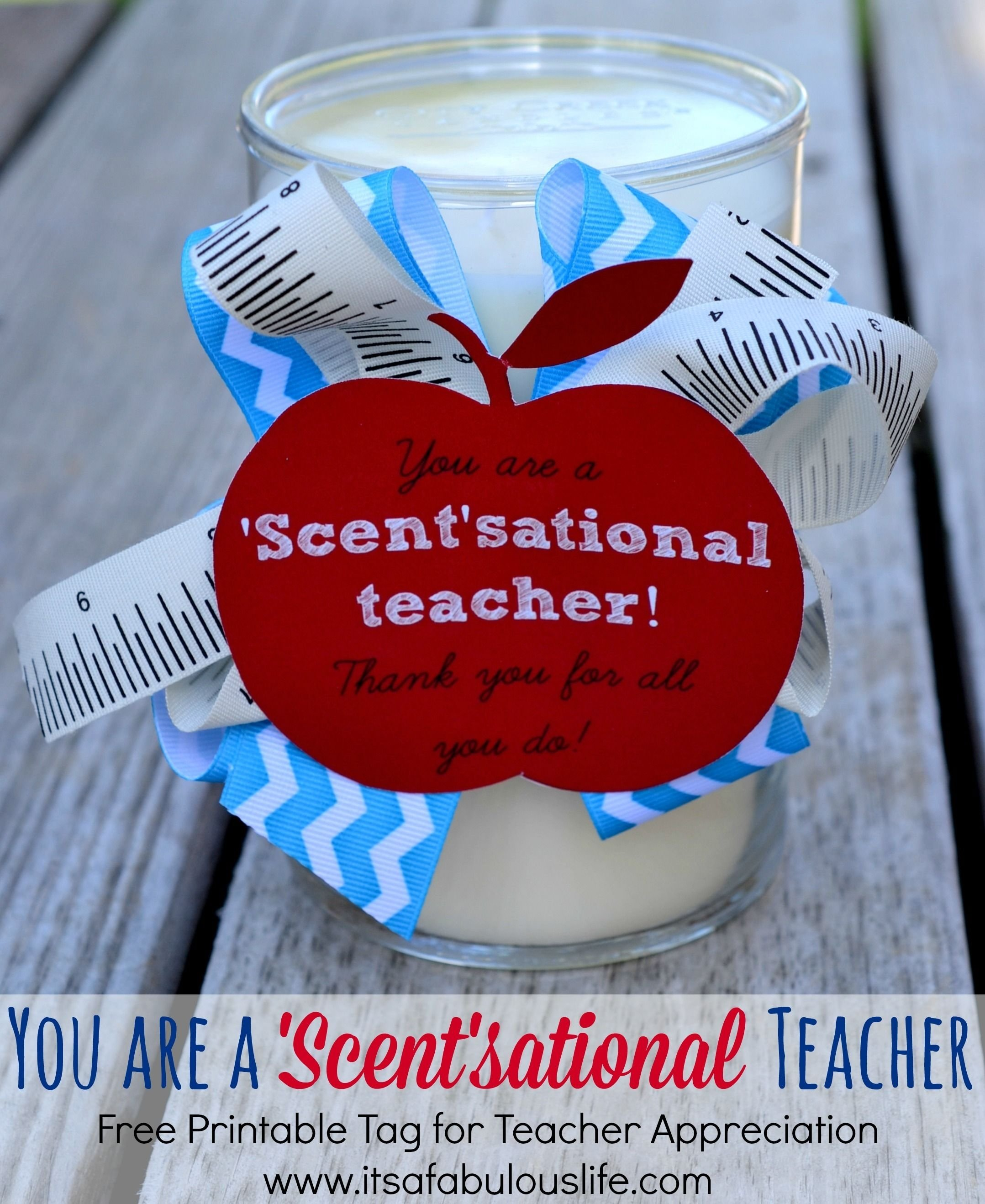 teacher appreciation week - quick & easy gift ideas | printable tags