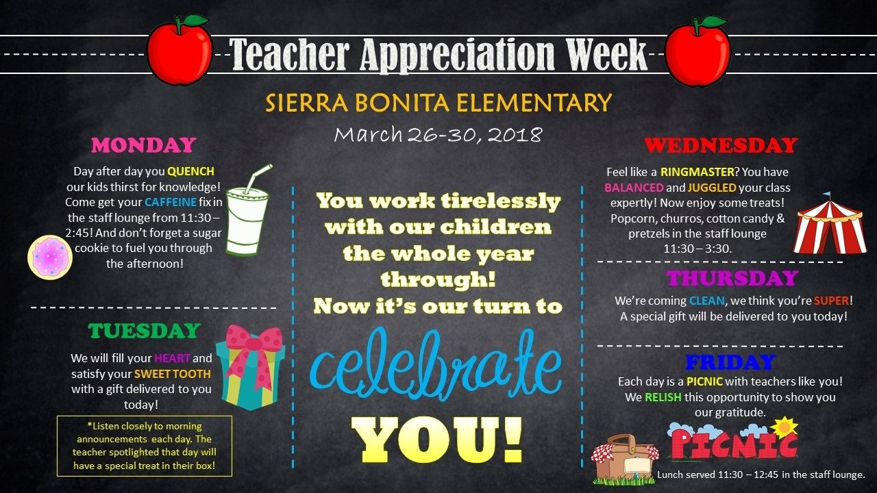 10 Gorgeous Teacher Appreciation Week Theme Ideas teacher appreciation week themes archives events to celebrate