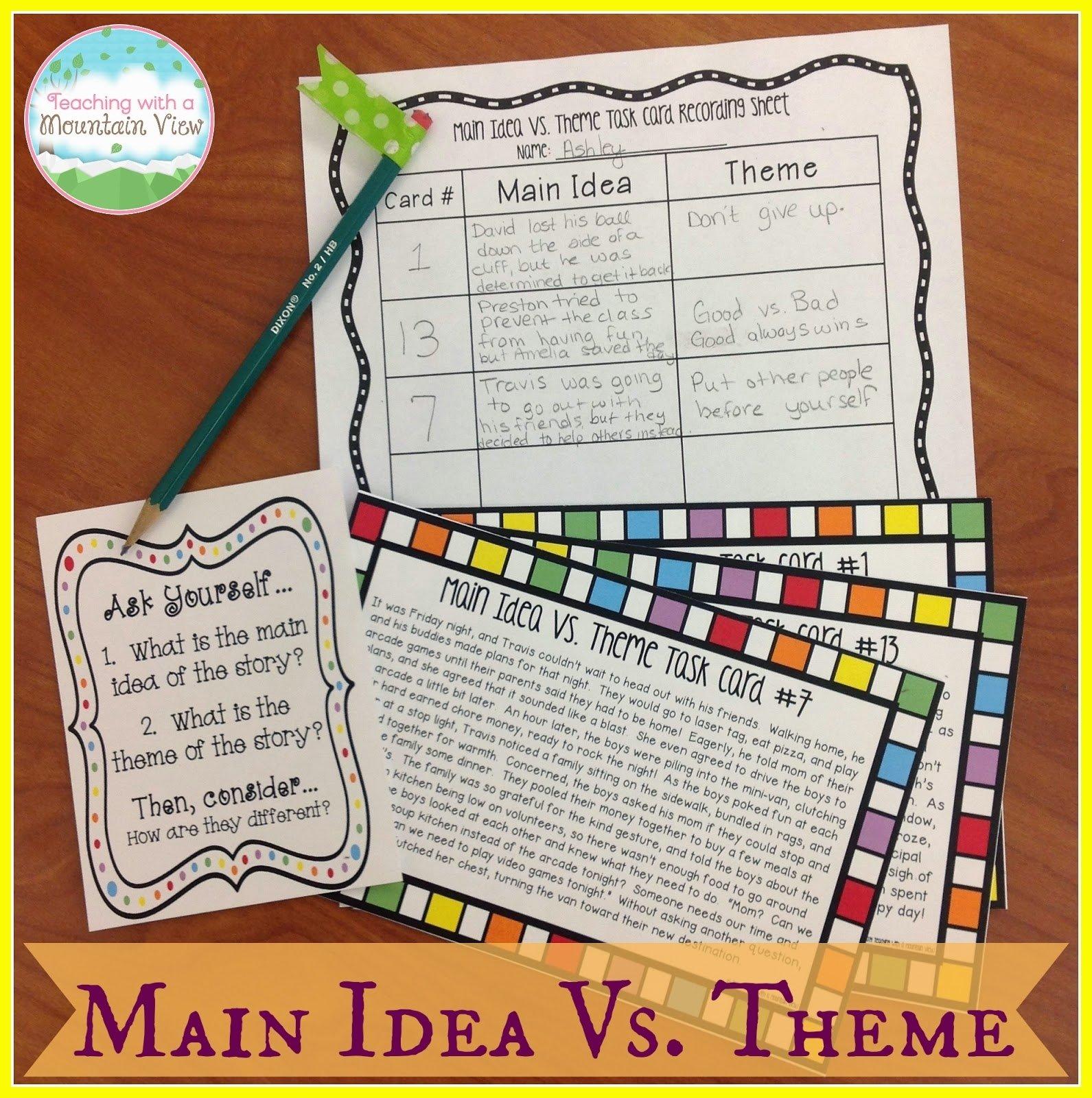 10 Ideal Main Idea Powerpoint 4Th Grade teaching with a mountain view teaching main idea vs theme 1