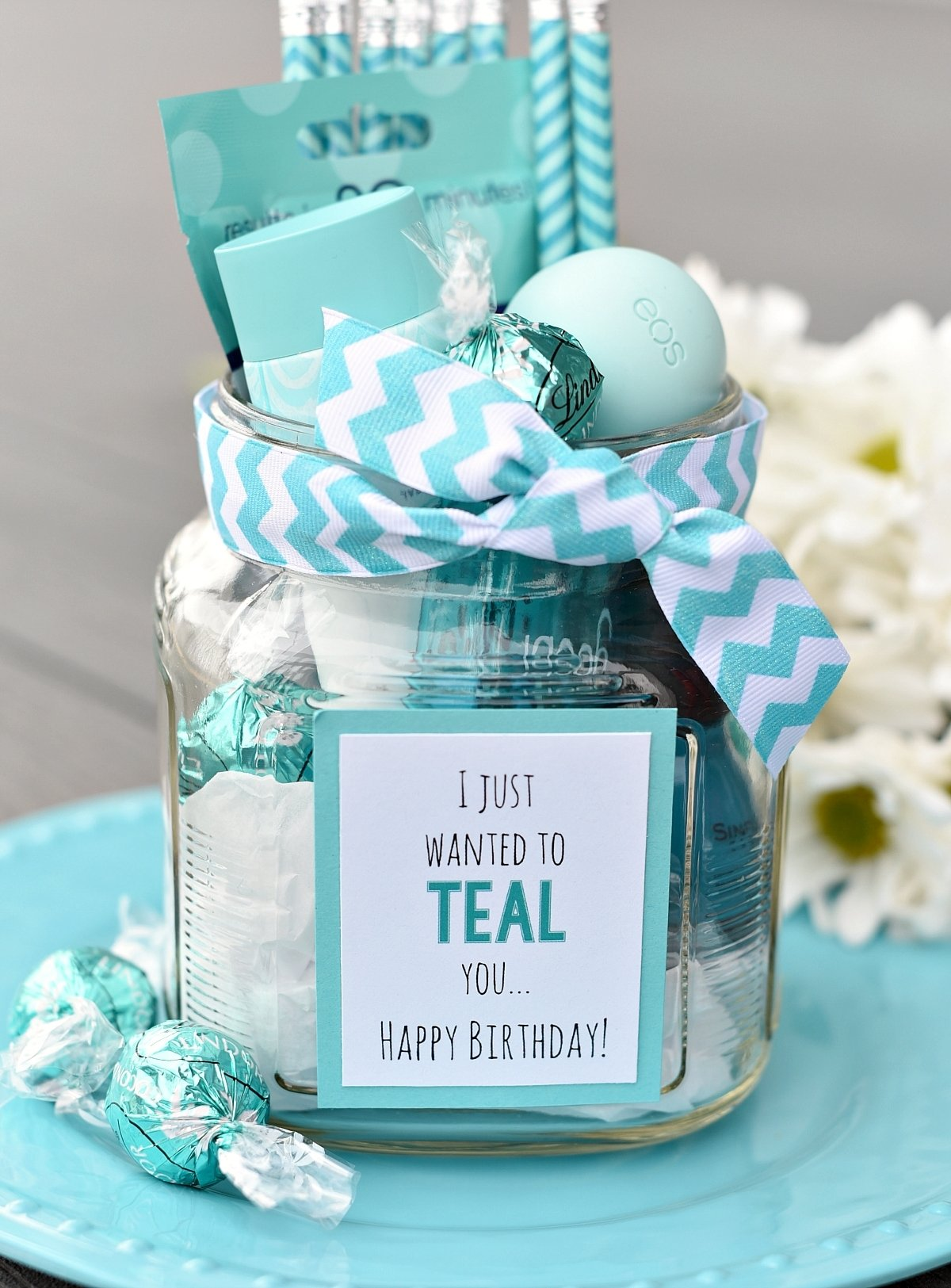 10 Lovely Ideas For A Birthday Gift teal birthday gift idea for friends fun squared 2