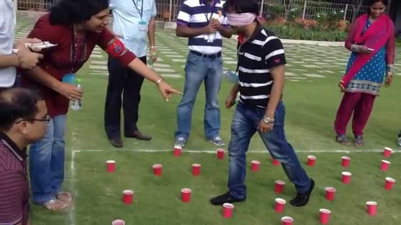 team building activities - blind fold - youtube