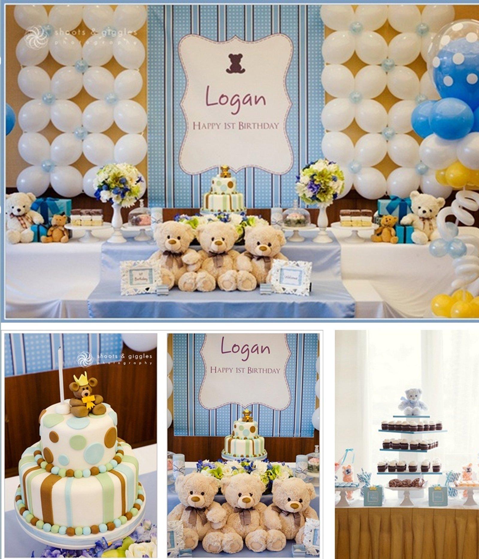 10 Famous Baptism Party Ideas For Boys teddy bear theme baptism party for boys 2020