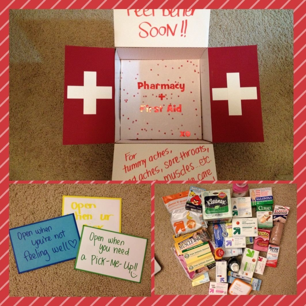teds first aid/pharmacy/get better soon care package for the next