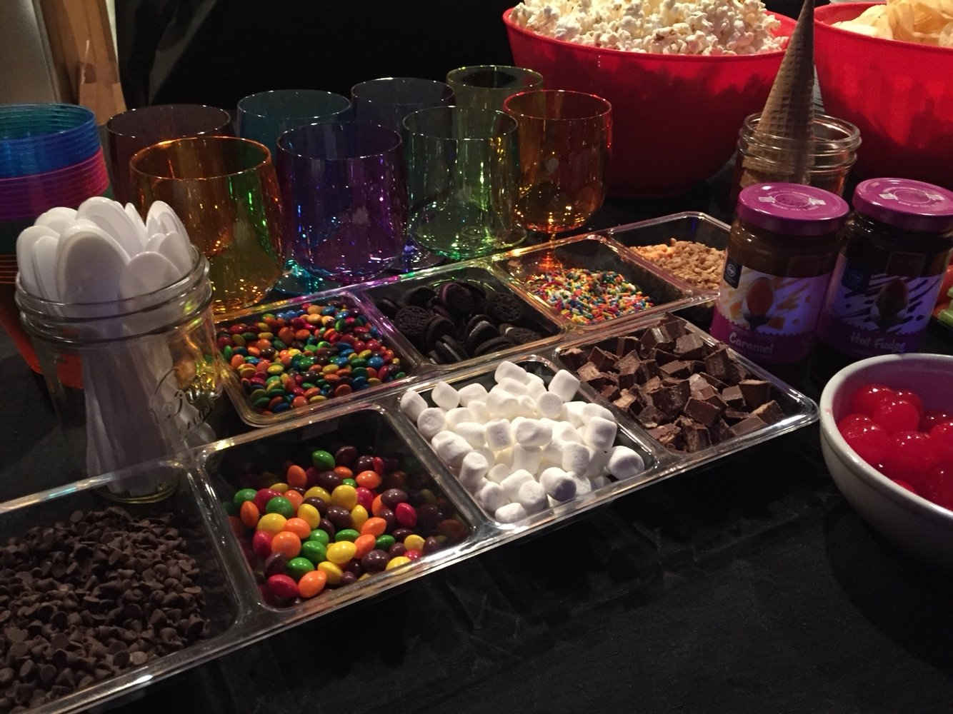 10 Attractive 18Th Birthday Party Ideas For Guys teen boy bday party glow in the dark neon blacklight sundae bar 2 2020