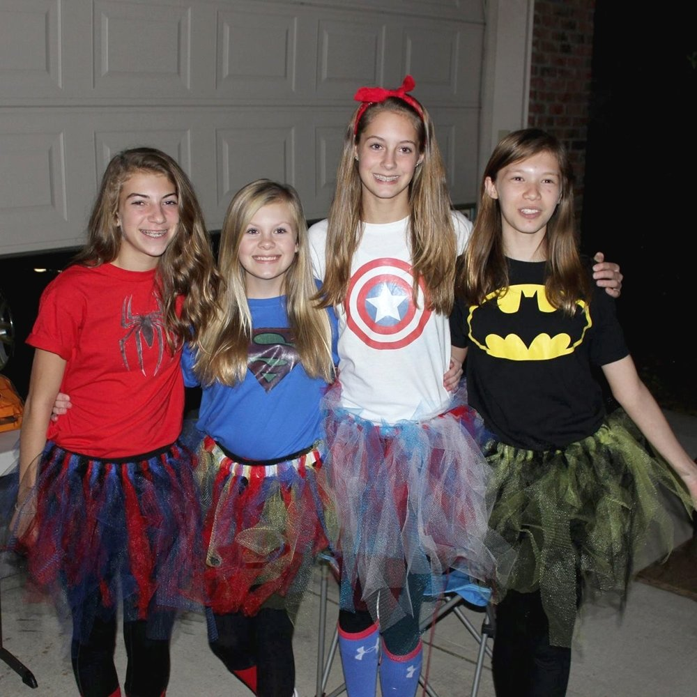 10 Lovable Creative Group Halloween Costume Ideas teen girl tween girl power costume idea diy easy group costume 2 2020
