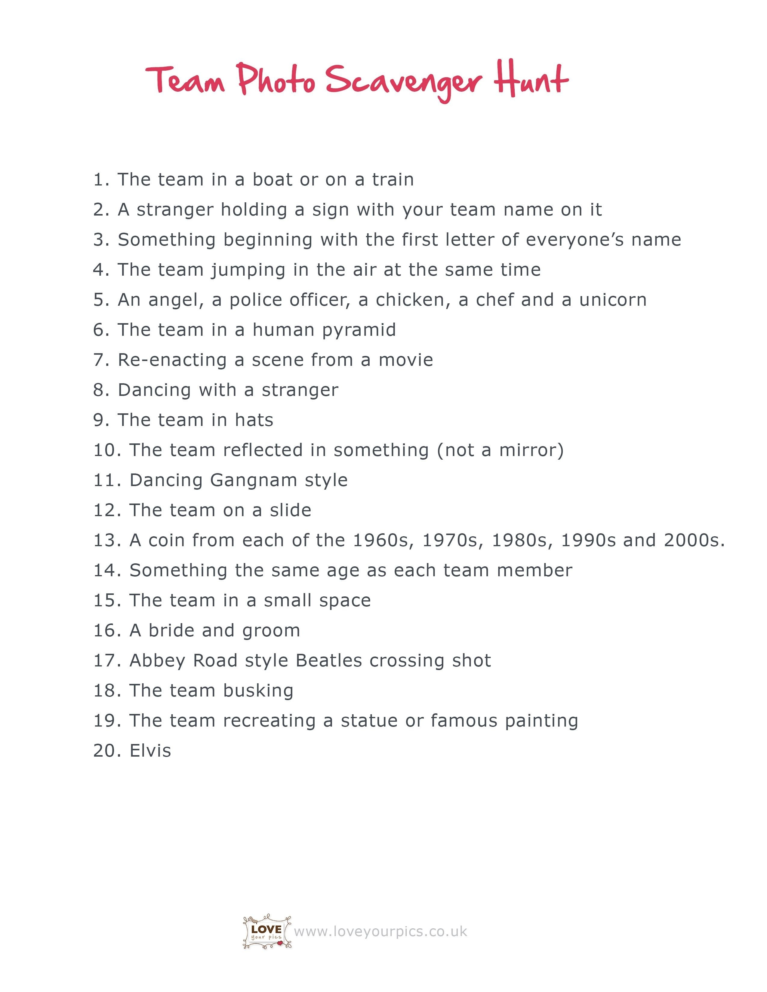 10 Amazing Ideas For A Scavenger Hunt teen scavenger hunt ideas pinteres 5 2021