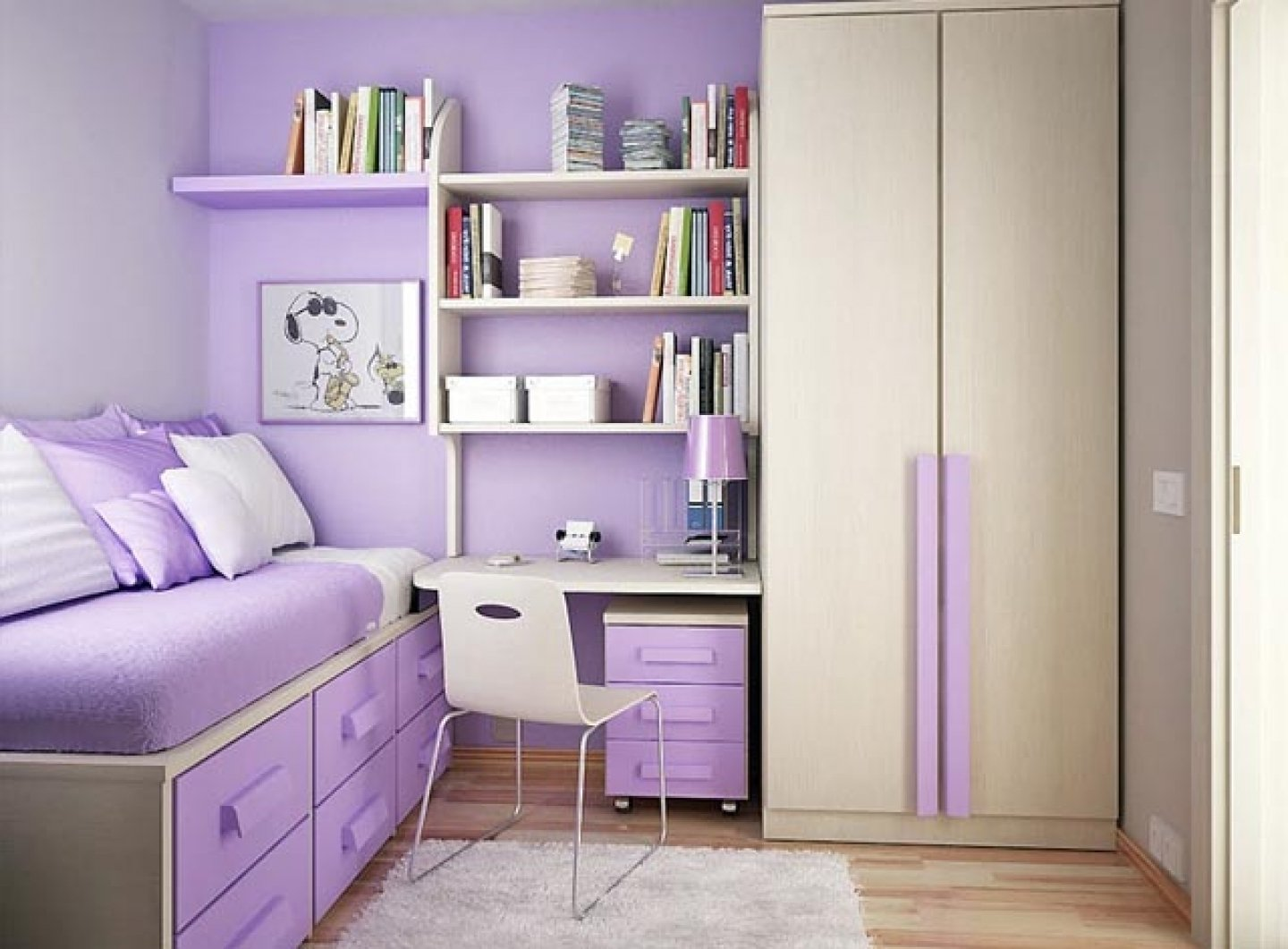 10 Elegant Cute Bedroom Ideas For Small Rooms teenage girl bedroom ideas for small rooms unique design purple 1