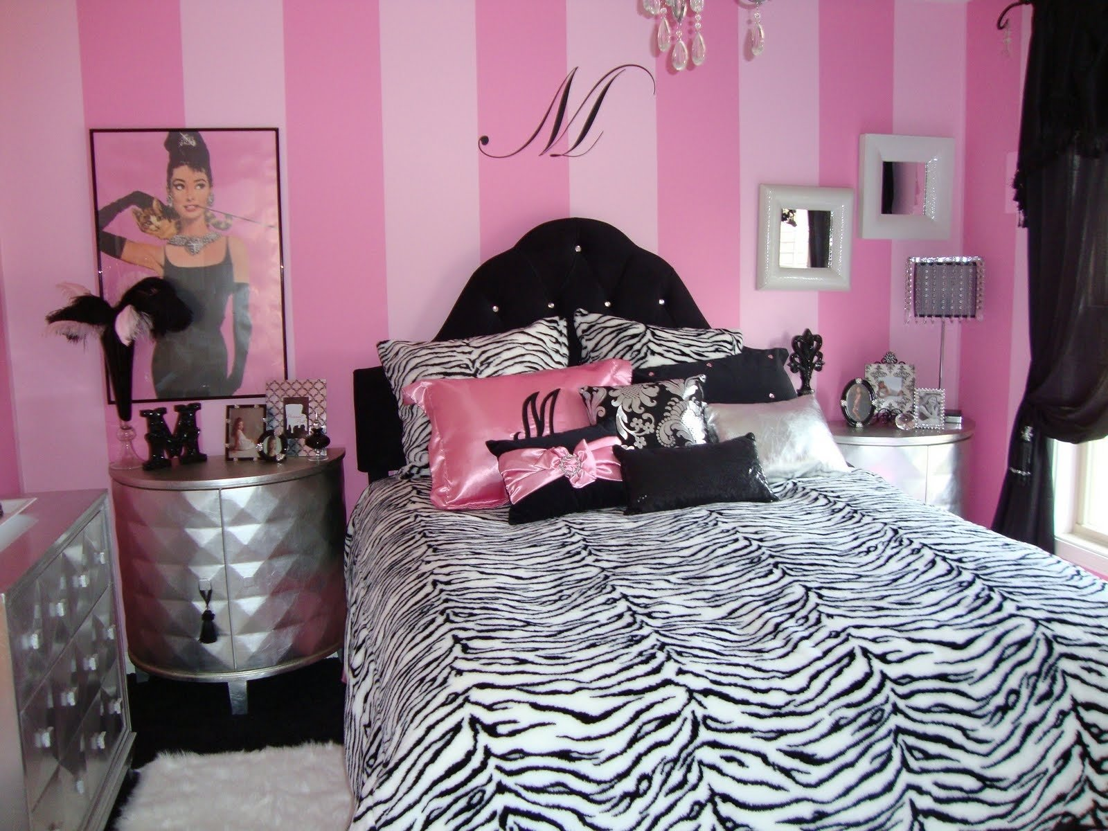 10 Most Recommended Pink Black And White Room Ideas teenage girl bedroom ideas pink and black deboto home design 2020