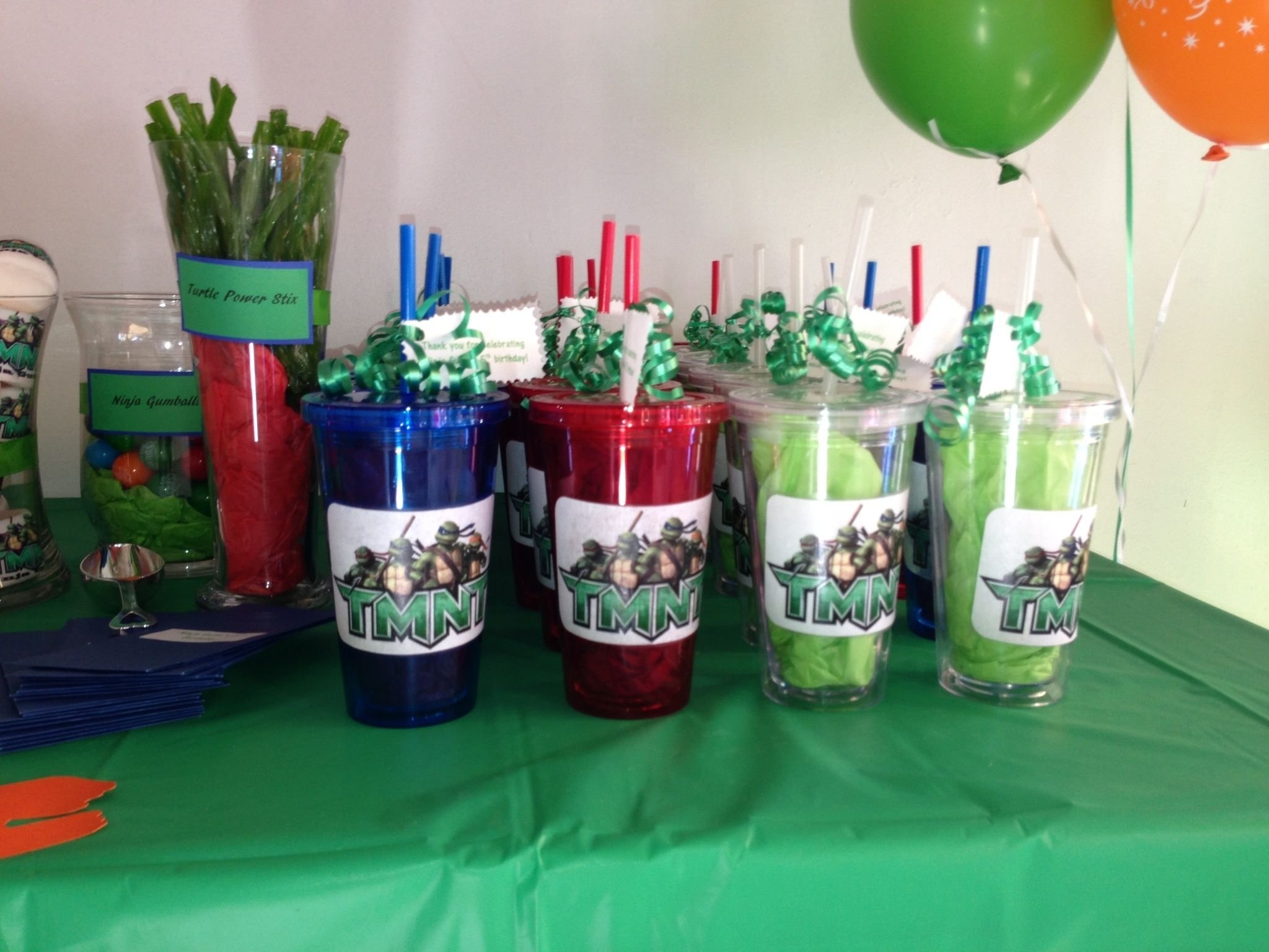 10 Pretty Ninja Turtles Theme Party Ideas teenage mutant ninja turtles birthday favors diy ninja turtles 7