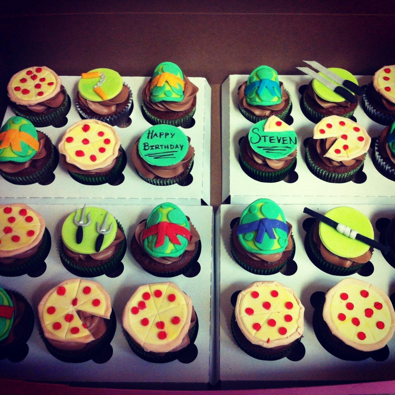 10 Attractive Teenage Mutant Ninja Turtles Cupcake Ideas teenage mutant ninja turtles cupcake toppers made of fondant