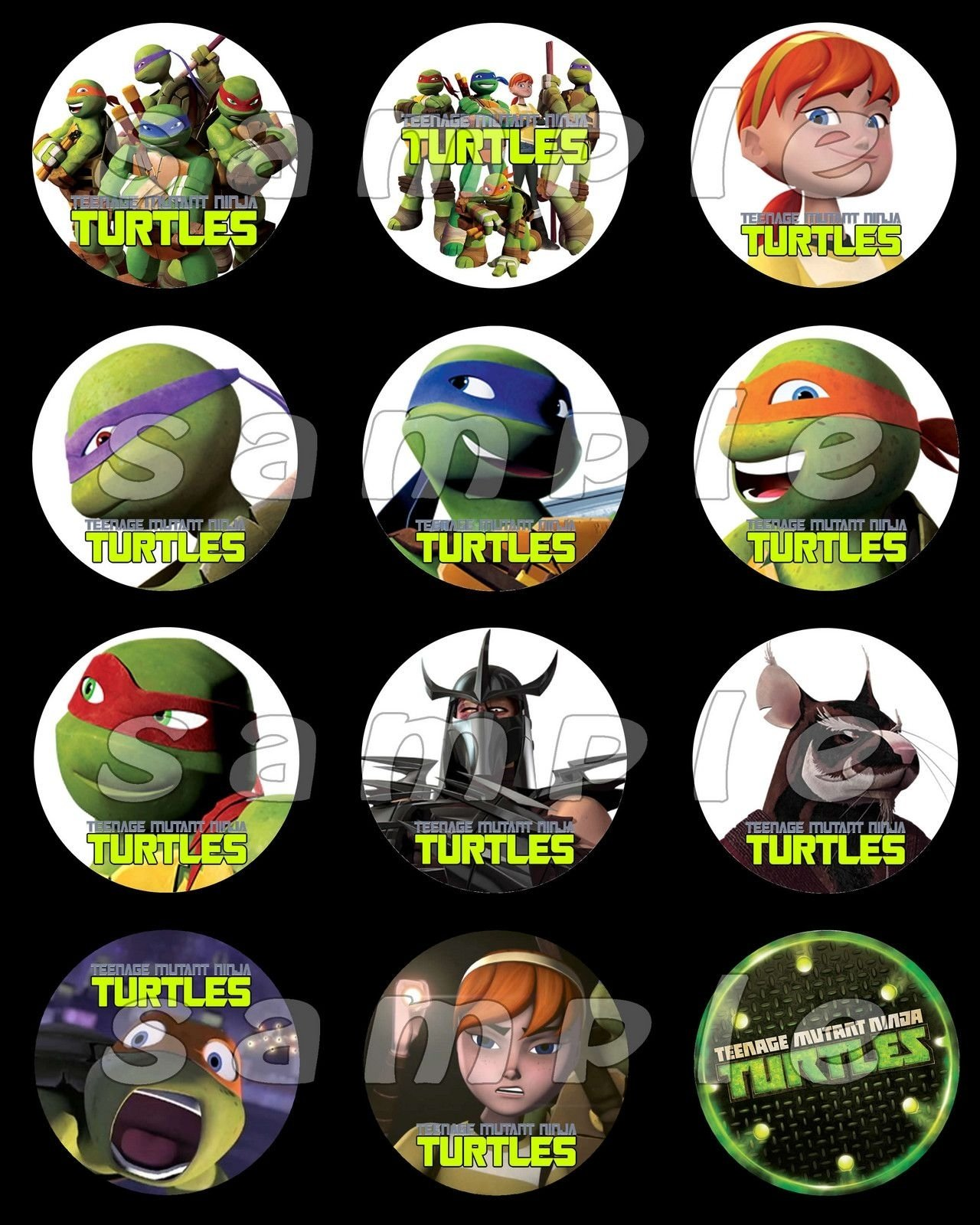 10 Attractive Teenage Mutant Ninja Turtles Cupcake Ideas teenage mutant ninja turtles stickers cupcake toppers 3 00