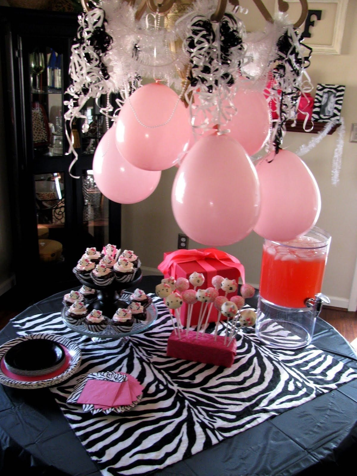 10 Spectacular Zebra Print Party Decoration Ideas teenager birthday party decoration images the hello kitty cake 2021