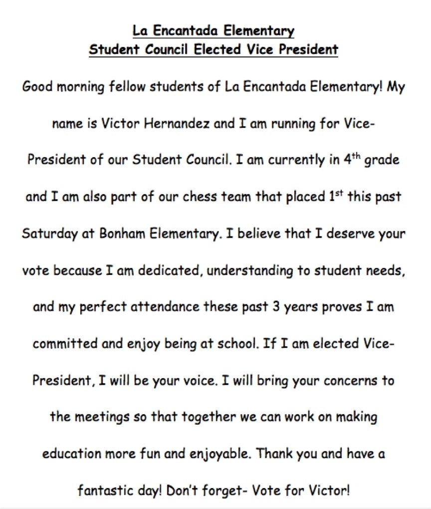 10 Fantastic Ideas For Student Council Speeches template student council speech examples